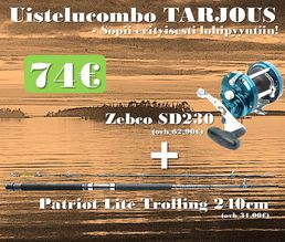 Zebco SD230 + Patriot Lite Trolling 240